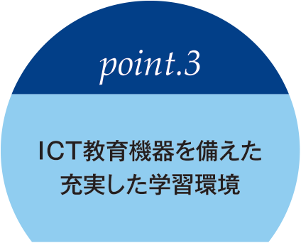 point03 Fulfilling learning environment with ICT educational equipment.